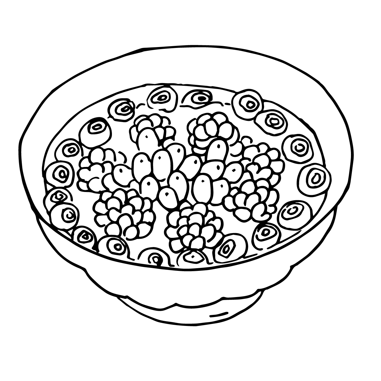 Beeren Bowl Illustration